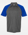 Diamond Pride Light-Performance Contrast Polo-Shirt, heather dunkelgrau-royal blau-DIAMOND PRIDE