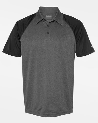 Diamond Pride Light-Performance Contrast Polo-Shirt, heather dunkelgrau-schwarz-DIAMOND PRIDE