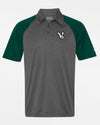 "Diamond Pride Light-Performance Contrast Polo-Shirt ""Kufstein Vikings"", heather dunkelgrau-dunkelgrün-DIAMOND PRIDE"