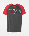 "Diamond Pride Light-Performance Contrast T-Shirt ""DM 2018 Baseball U12 Stuttgart"", heather dunkelgrau-rot-DIAMOND PRIDE"