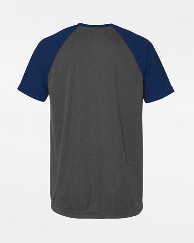 Diamond Pride Light-Performance Contrast T-Shirt, heather dunkelgrau-navy blau-DIAMOND PRIDE