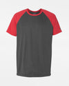 Diamond Pride Light-Performance Contrast T-Shirt, heather dunkelgrau-rot-DIAMOND PRIDE