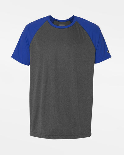 Diamond Pride Light-Performance Contrast T-Shirt, heather dunkelgrau-royal blau-DIAMOND PRIDE