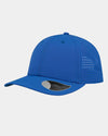 Diamond Pride Premium Light Curved Snapback Cap, royal blau-DIAMOND PRIDE