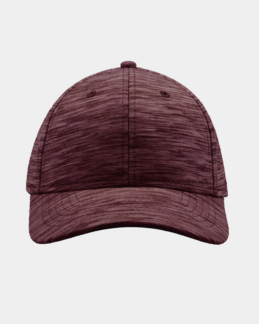 Diamond Pride Streaked Heather Curved Snapback Cap, heather-maroon rot-DIAMOND PRIDE