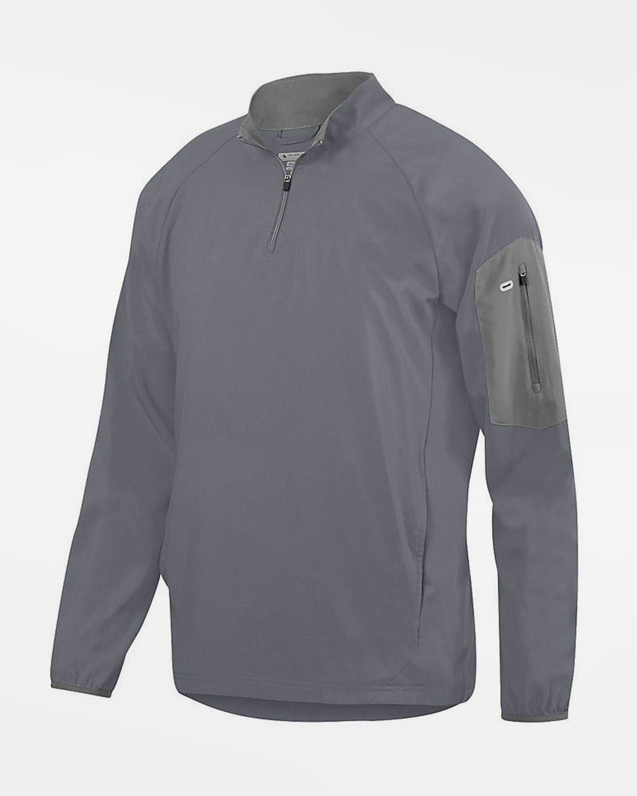 Holloway Augusta 1/4-Zip Warmup Pullover, dunkelgrau-DIAMOND PRIDE