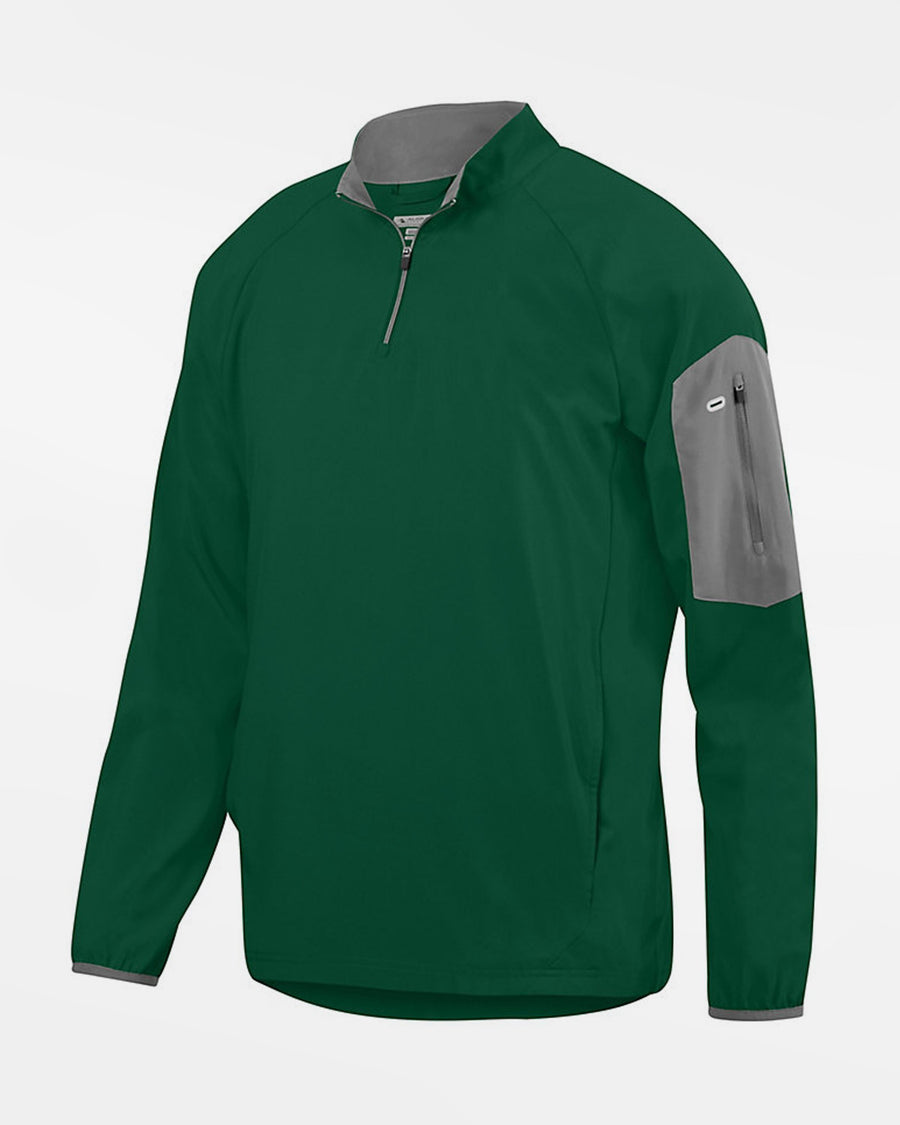 Holloway Augusta 1/4-Zip Warmup Pullover, dunkelgrün-DIAMOND PRIDE