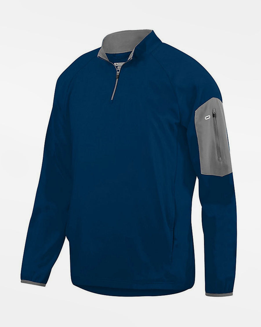 Holloway Augusta 1/4-Zip Warmup Pullover, navy blau-DIAMOND PRIDE