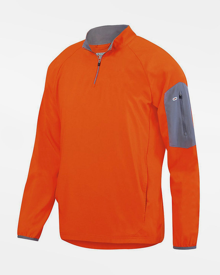 Holloway Augusta 1/4-Zip Warmup Pullover, orange-DIAMOND PRIDE