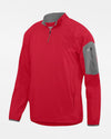 Holloway Augusta 1/4-Zip Warmup Pullover, rot-DIAMOND PRIDE