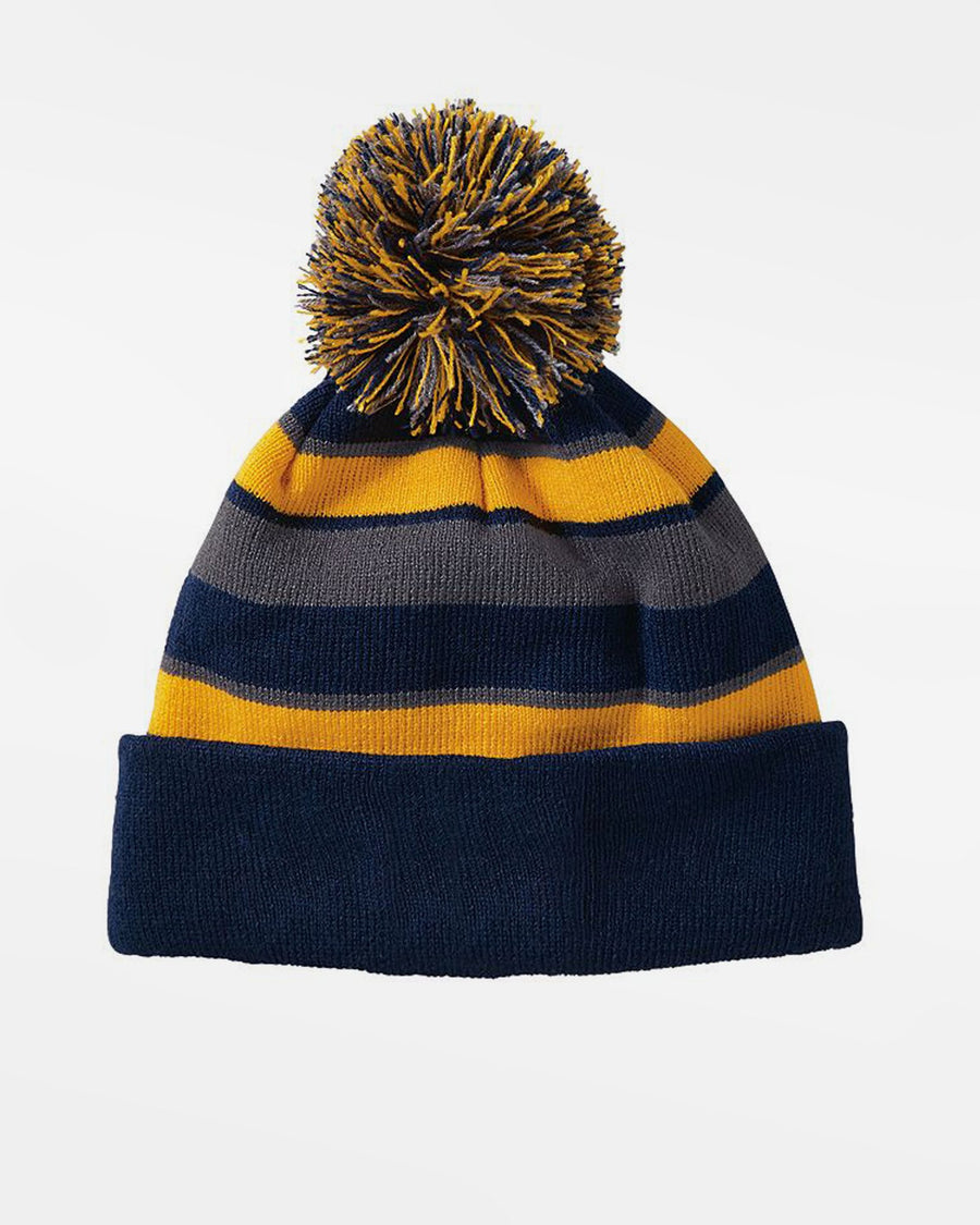 Holloway PomPom-Beanie, navy blau-gelb-grau-DIAMOND PRIDE