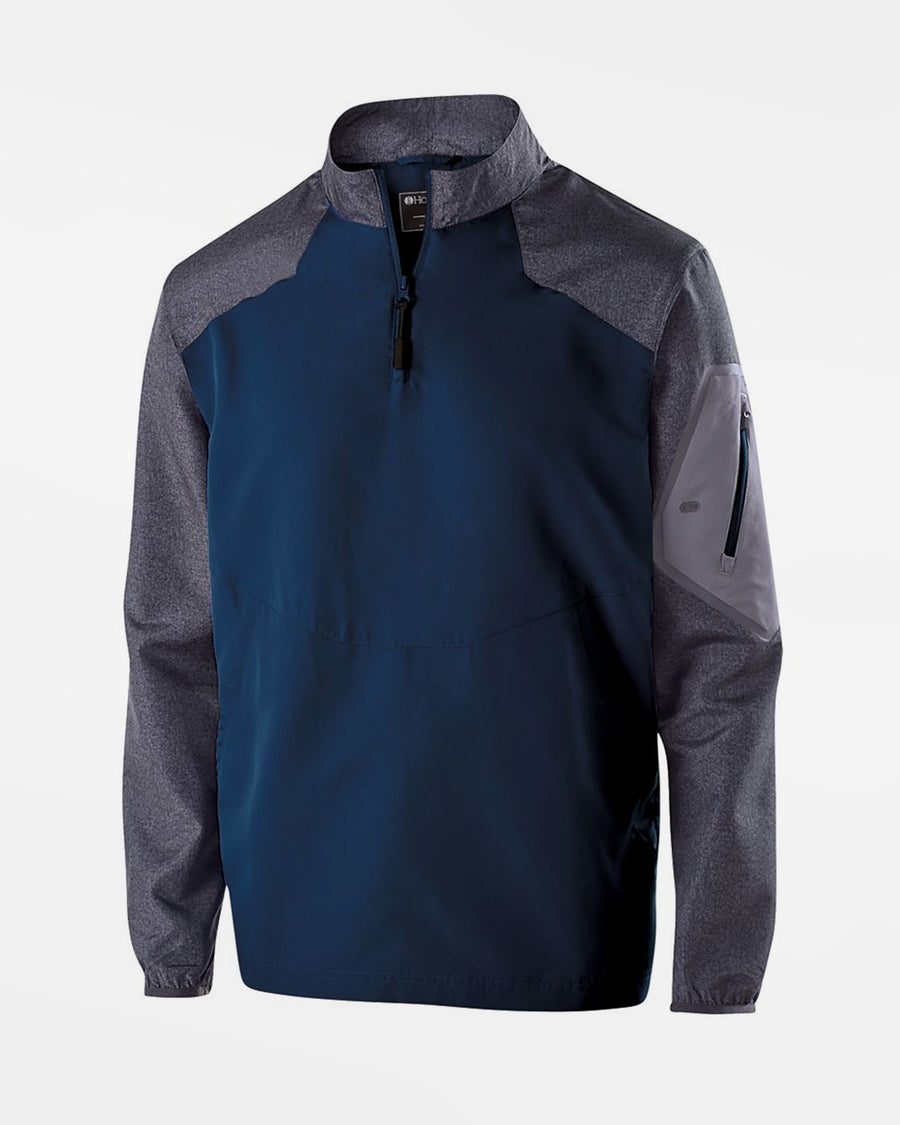 Holloway Raider Warmup Longsleeve Pullover, navy blau-grau-DIAMOND PRIDE