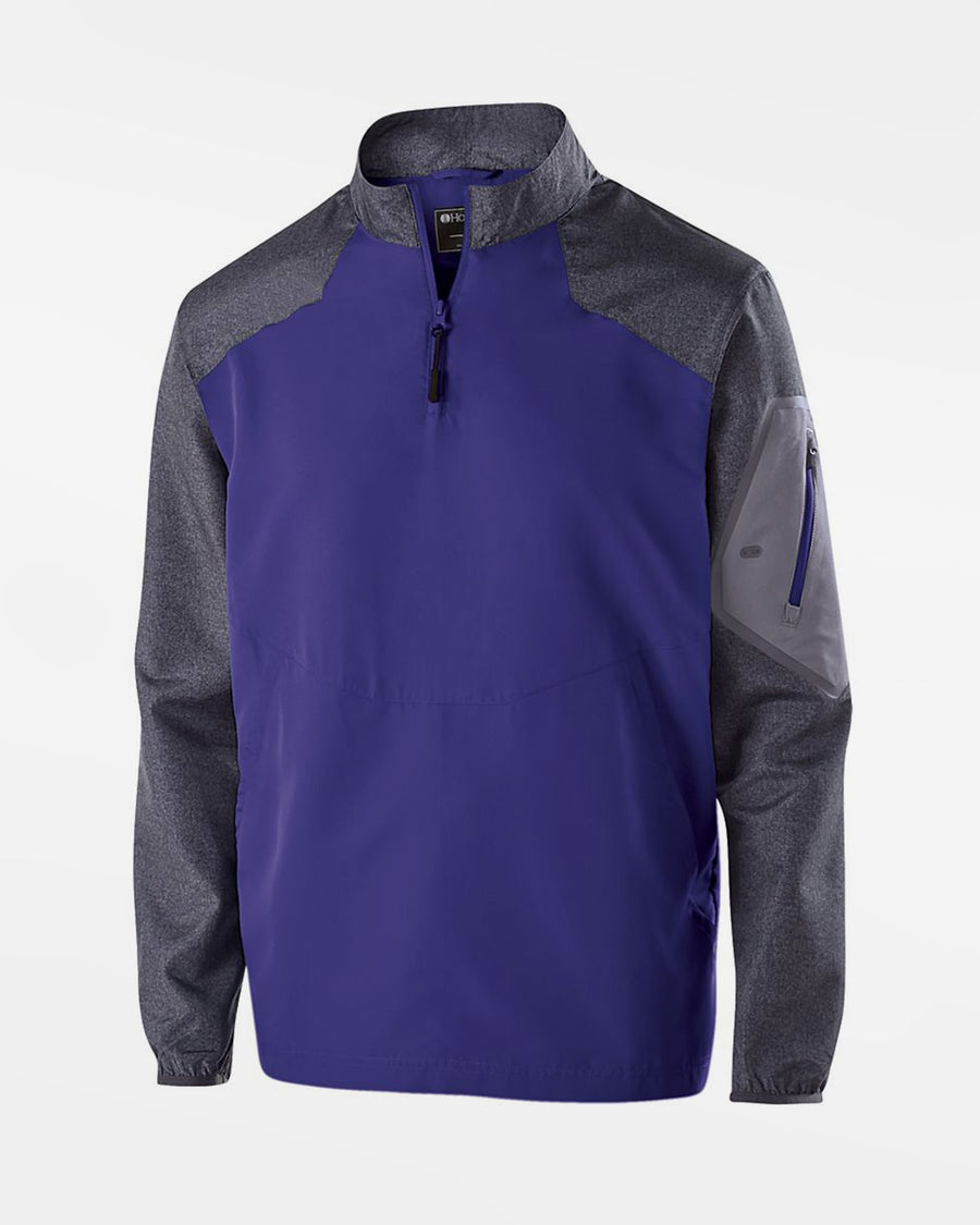 Holloway Raider Warmup Longsleeve Pullover, purple-grau-DIAMOND PRIDE