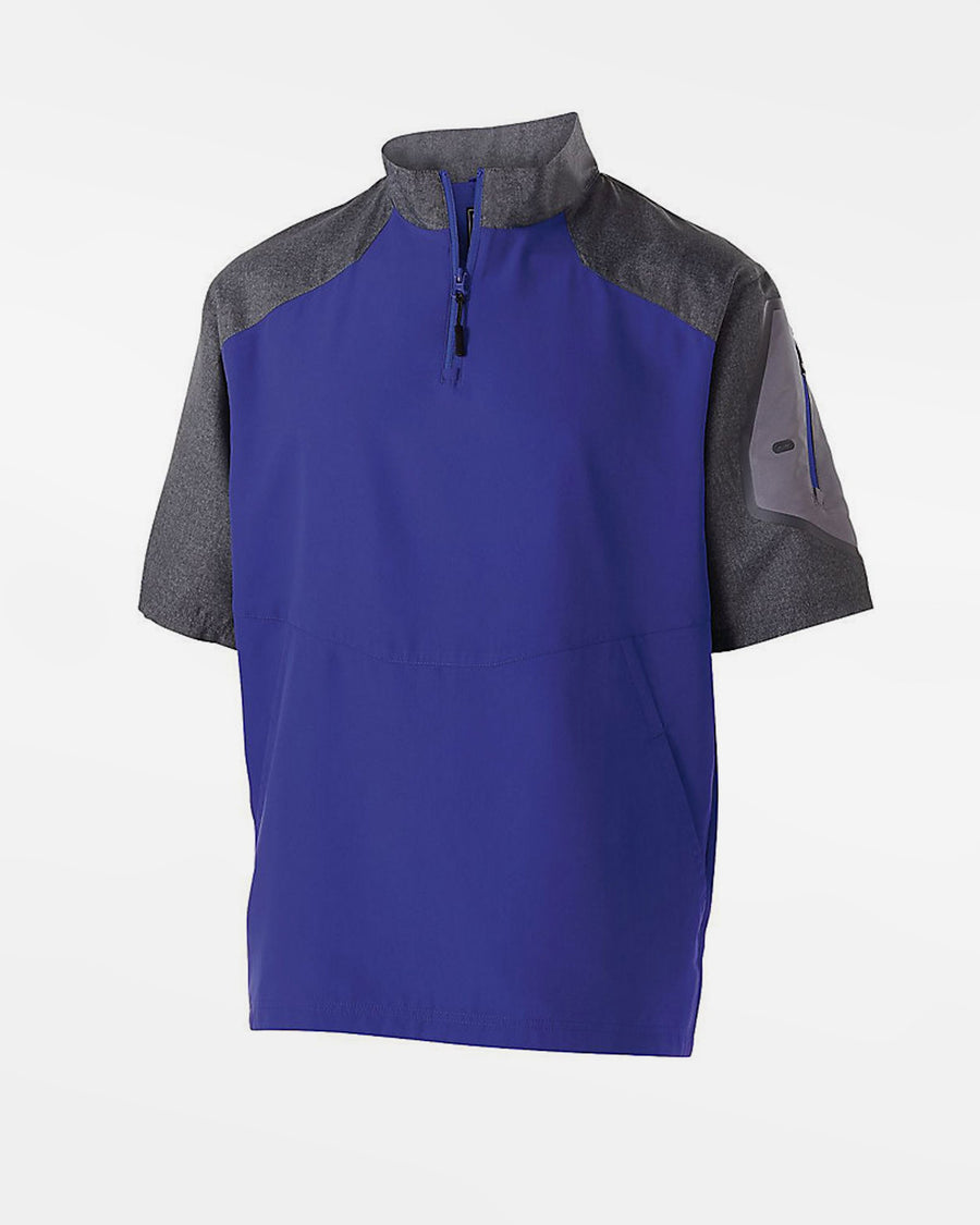 Holloway Raider Warmup Pullover, purple-grau-DIAMOND PRIDE