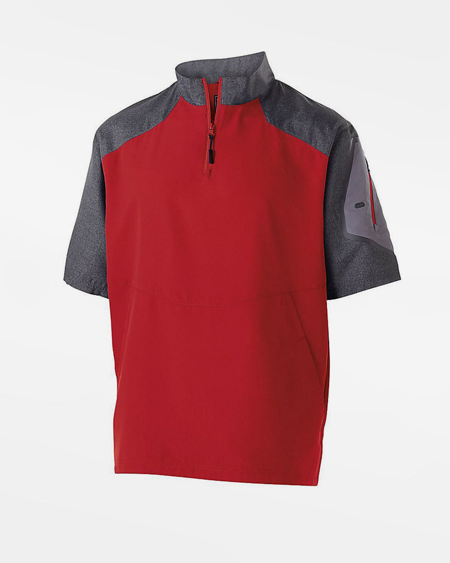 Holloway Raider Warmup Pullover, rot-grau-DIAMOND PRIDE