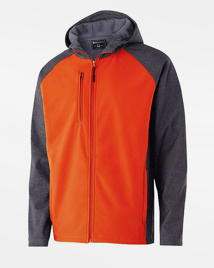 Holloway Raider Warmup Softshell Jacke, orange-grau-DIAMOND PRIDE