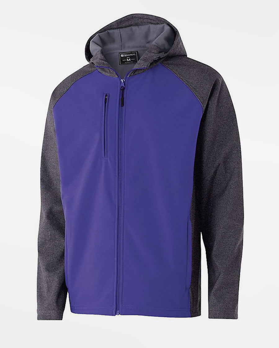 Holloway Raider Warmup Softshell Jacke, purple-grau-DIAMOND PRIDE