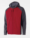 Holloway Raider Warmup Softshell Jacke, rot-grau-DIAMOND PRIDE