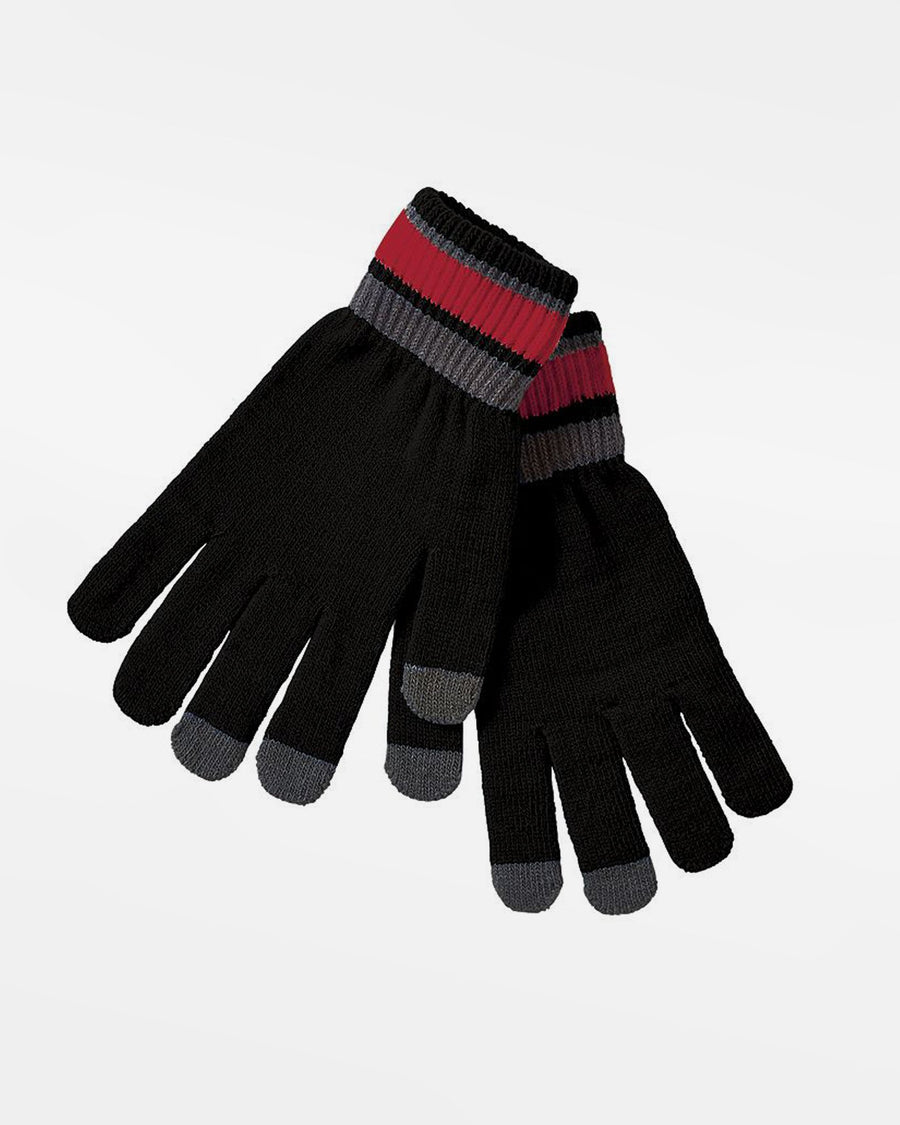 Holloway Winter-Handschuhe, schwarz-rot-grau-DIAMOND PRIDE