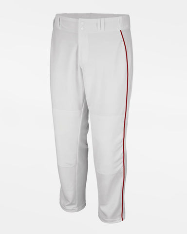 "Majestic Cool Base Premier Relaxed Fit Baseball Pant ""Open Leg"", Weiss/Rot - AUSLAUFARTIKEL -DIAMOND PRIDE"