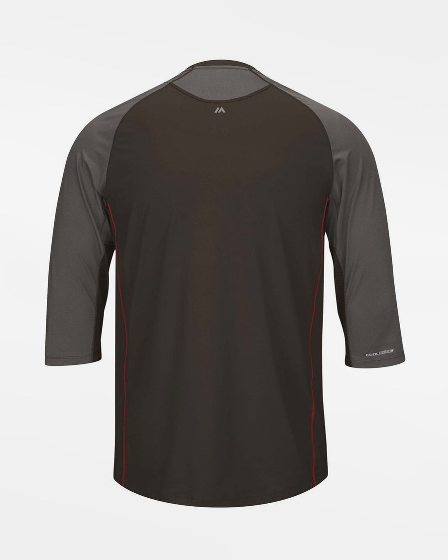 Majestic Player Series 3/4 Sleeve Performance Shirt, schwarz - AUSLAUFARTIKEL -DIAMOND PRIDE