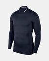 Nike Pro Compression Longsleeve Mock 2018, navy blau-DIAMOND PRIDE