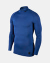 Nike Pro Compression Longsleeve Mock 2018, royal blau-DIAMOND PRIDE