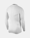 Nike Pro Compression Longsleeve Mock 2018, weiss-DIAMOND PRIDE