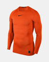 Nike Pro Compression Longsleeve Shirt 2018, orange-DIAMOND PRIDE