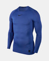 Nike Pro Compression Longsleeve Shirt 2018, royal blau-DIAMOND PRIDE