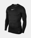 Nike Pro Compression Longsleeve Shirt 2018, schwarz-DIAMOND PRIDE