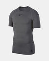 Nike Pro Compression Shortsleeve Shirt, dunkelgrau-DIAMOND PRIDE