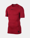 Nike Pro Compression Shortsleeve Shirt, rot-DIAMOND PRIDE