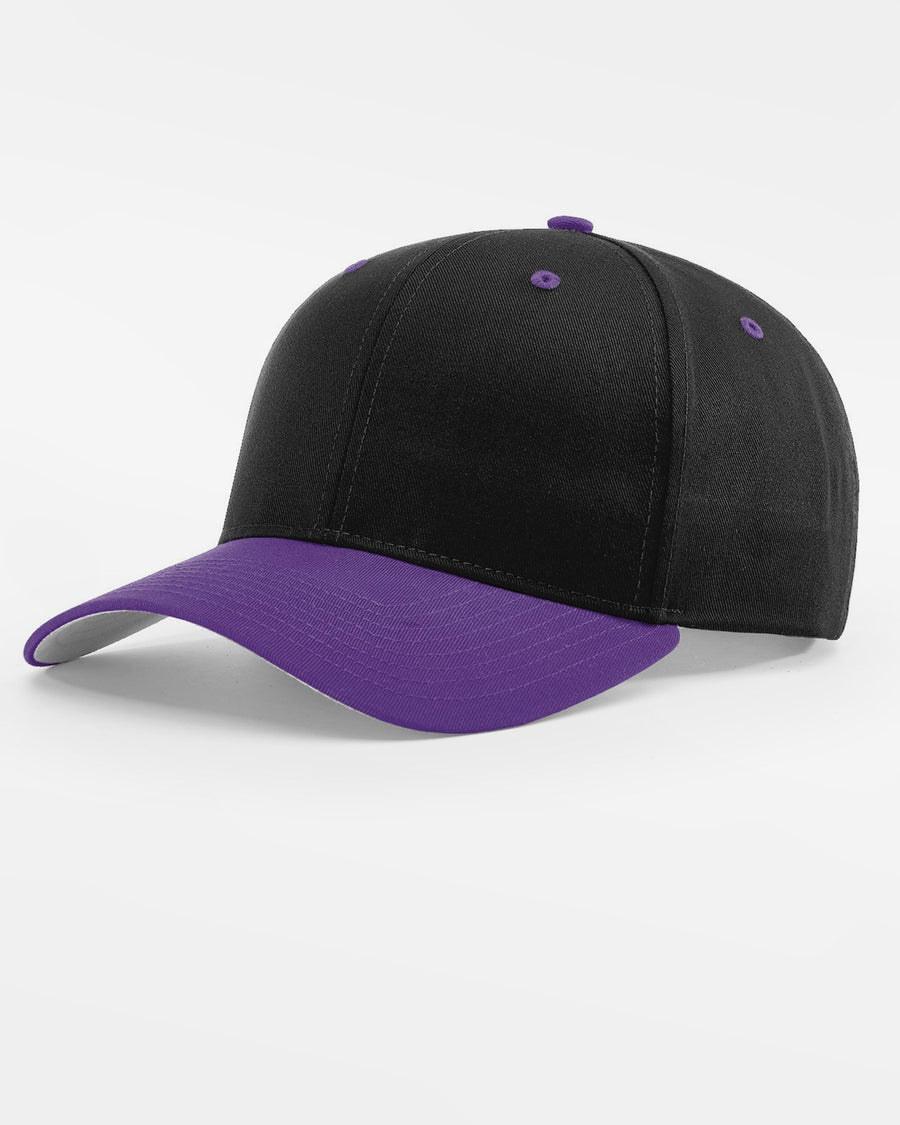 Richardson Basic Snapback, schwarz - purple-DIAMOND PRIDE