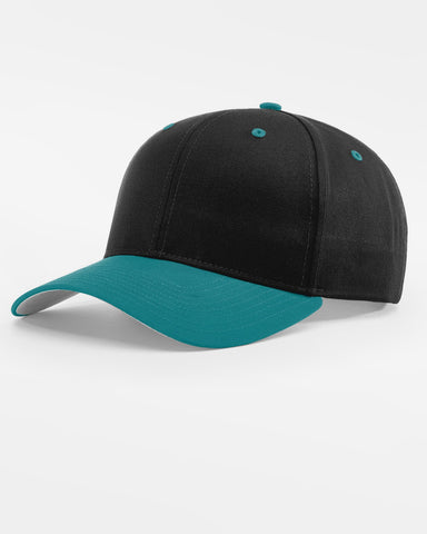 Richardson Basic Snapback, schwarz - teal blau-DIAMOND PRIDE