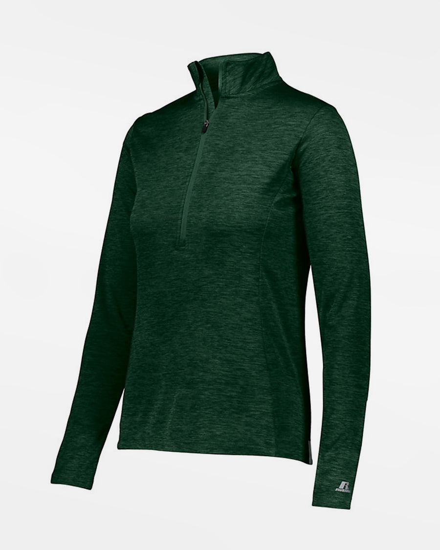 Russell Athletic Dri-Power Ladies Lightweight 1/4-Zip Pullover, heather dunkelgrün-DIAMOND PRIDE