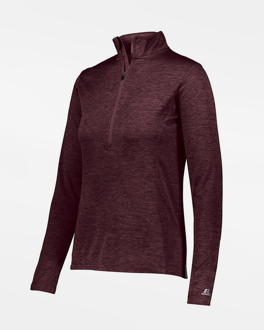 Russell Athletic Dri-Power Ladies Lightweight 1/4-Zip Pullover, heather maroon rot-DIAMOND PRIDE