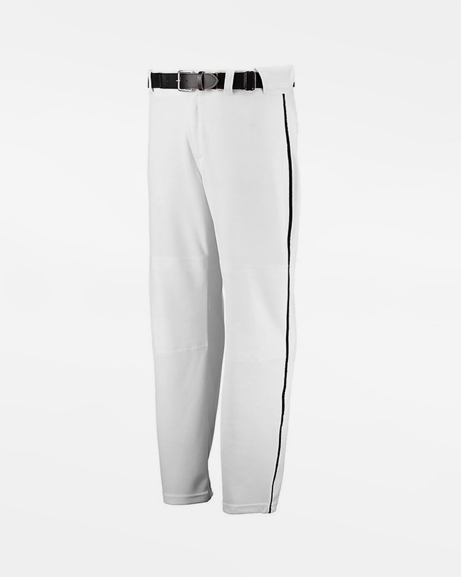 "Russell Athletic Kids Piped Baseball Pant ""Open Bottom"", Weiss/Schwarz-DIAMOND PRIDE"
