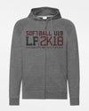 "Russell Premium Light Zip-Hoodie ""LP 2018 SB-U19 Neunkirchen"", heather dunkelgrau-DIAMOND PRIDE"