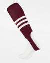TCK Striped ProStirrup, maroon rot-weiss-DIAMOND PRIDE