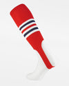 TCK Striped ProStirrup, rot-weiss-navy blau-DIAMOND PRIDE