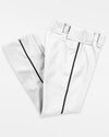"Teamwork Piped Baseball Pant ""Open Bottom"", 14 oz, Weiss/Schwarz-DIAMOND PRIDE"
