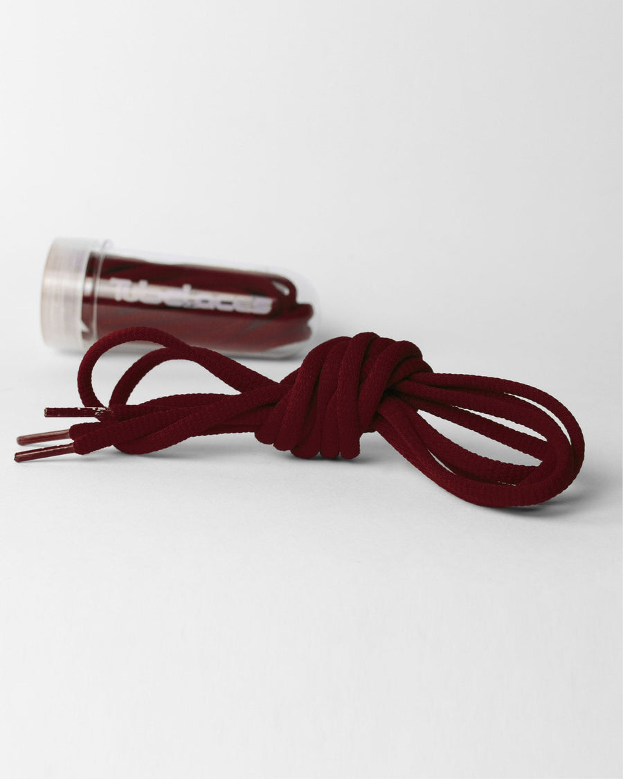 Tube Laces Padded, 130cm, maroon-rot-DIAMOND PRIDE