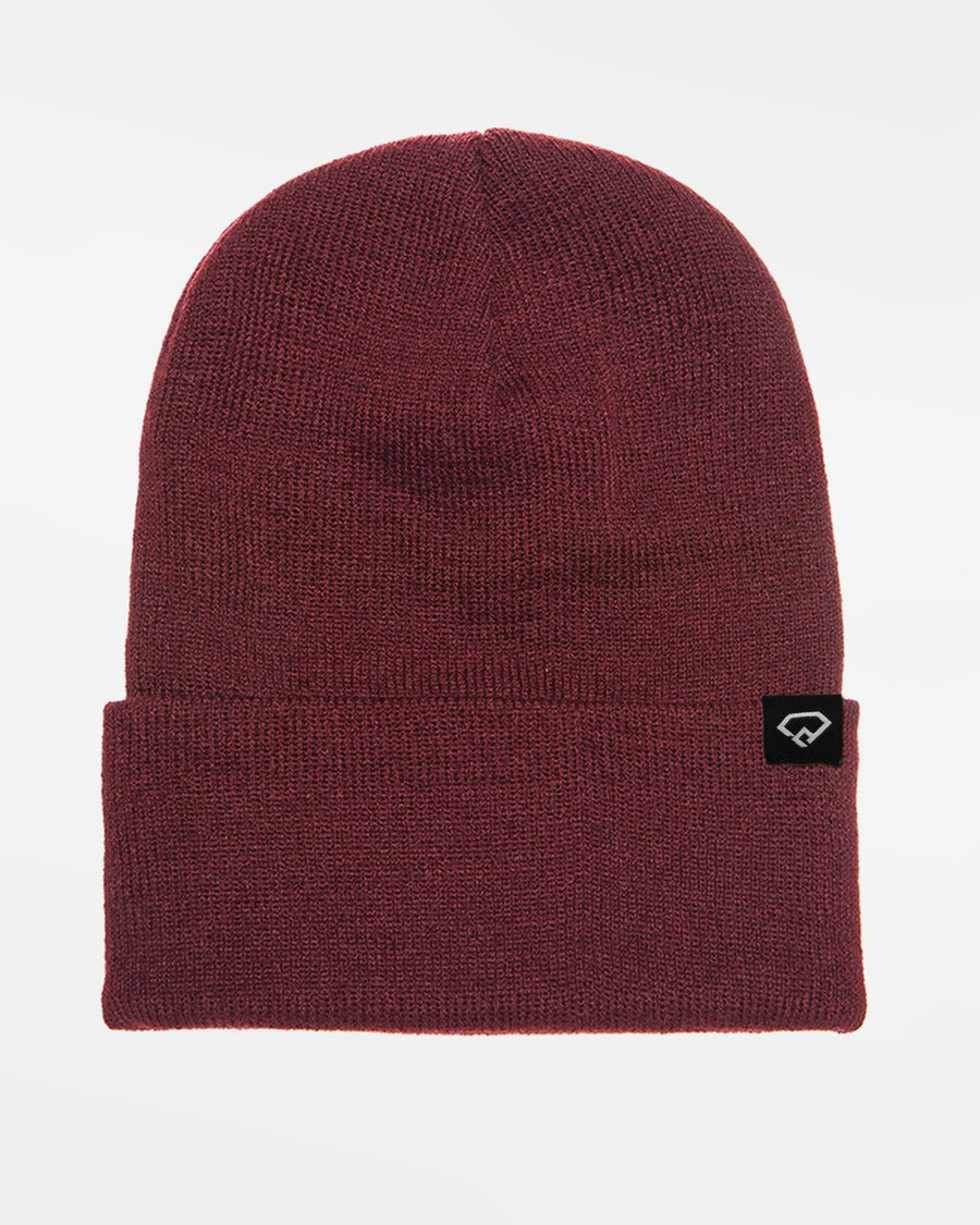 Yupoong Flexfit Heavyweight Long Beanie, maroon-rot-DIAMOND PRIDE