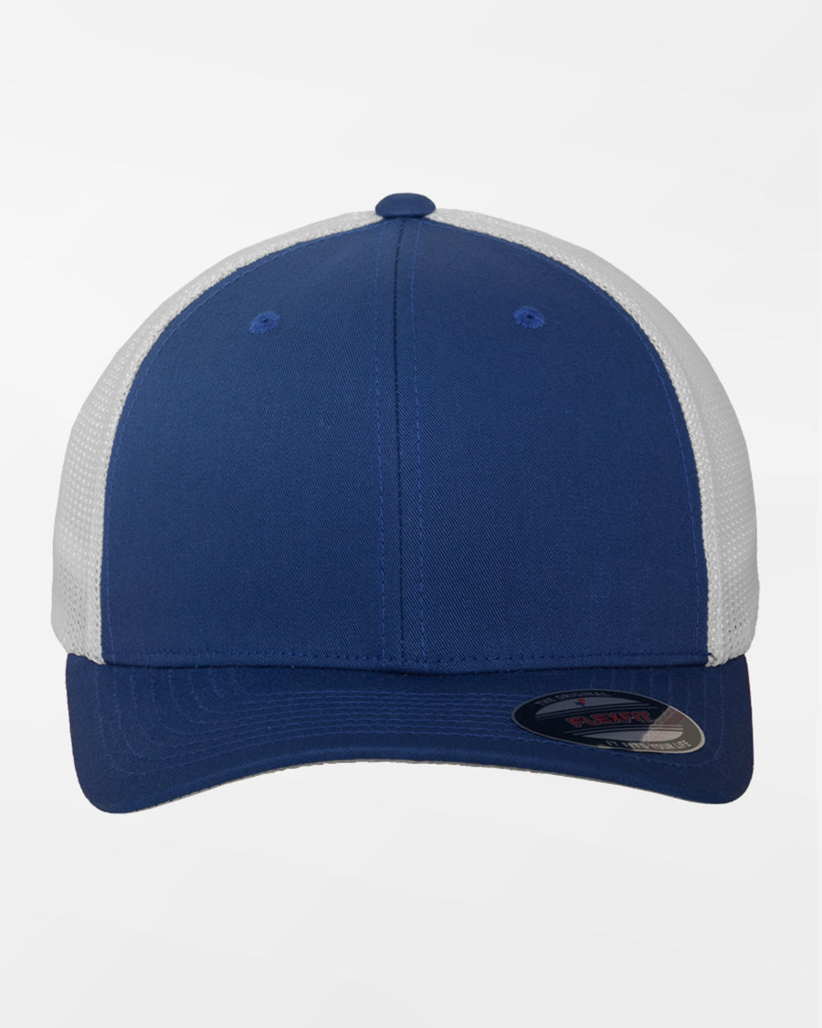 Yupoong Flexfit Mesh Trucker Cap, weiss-royal blau-DIAMOND PRIDE