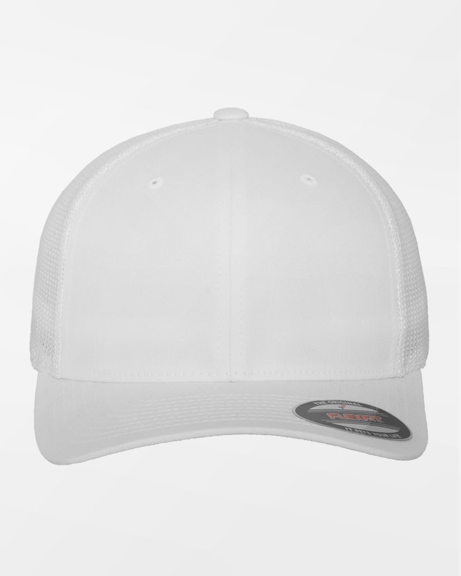 Yupoong Flexfit Mesh Trucker Cap, weiss-DIAMOND PRIDE