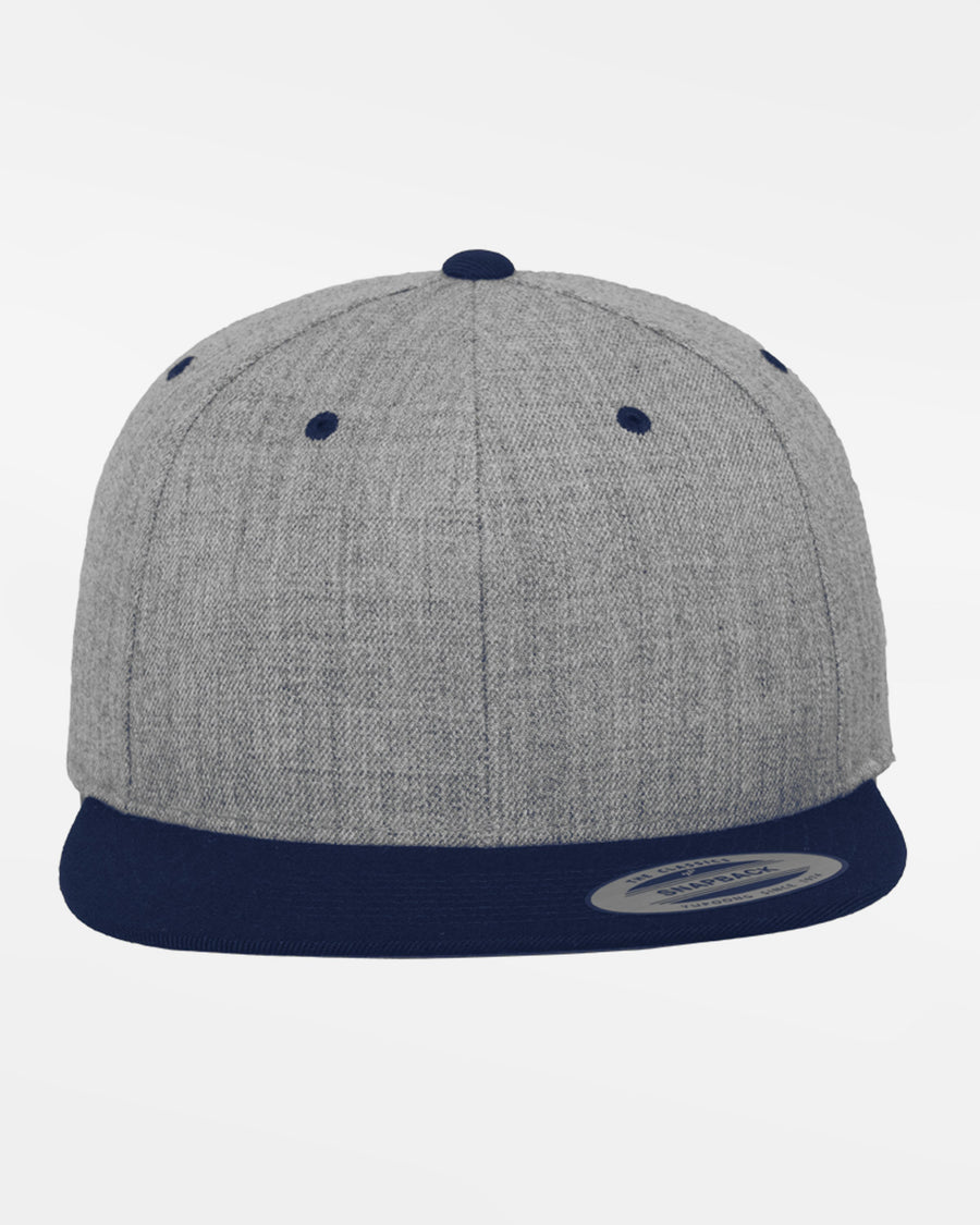 Yupoong Snapback Cap 2-Tone, heather grau-navy blau-DIAMOND PRIDE