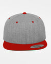 Yupoong Snapback Cap 2-Tone, heather grau-rot-DIAMOND PRIDE