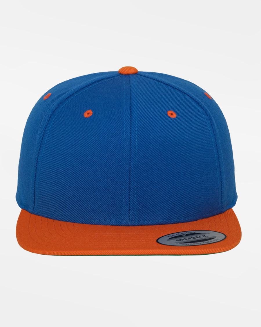 Yupoong Snapback Cap 2-Tone, royal blau-orange-DIAMOND PRIDE