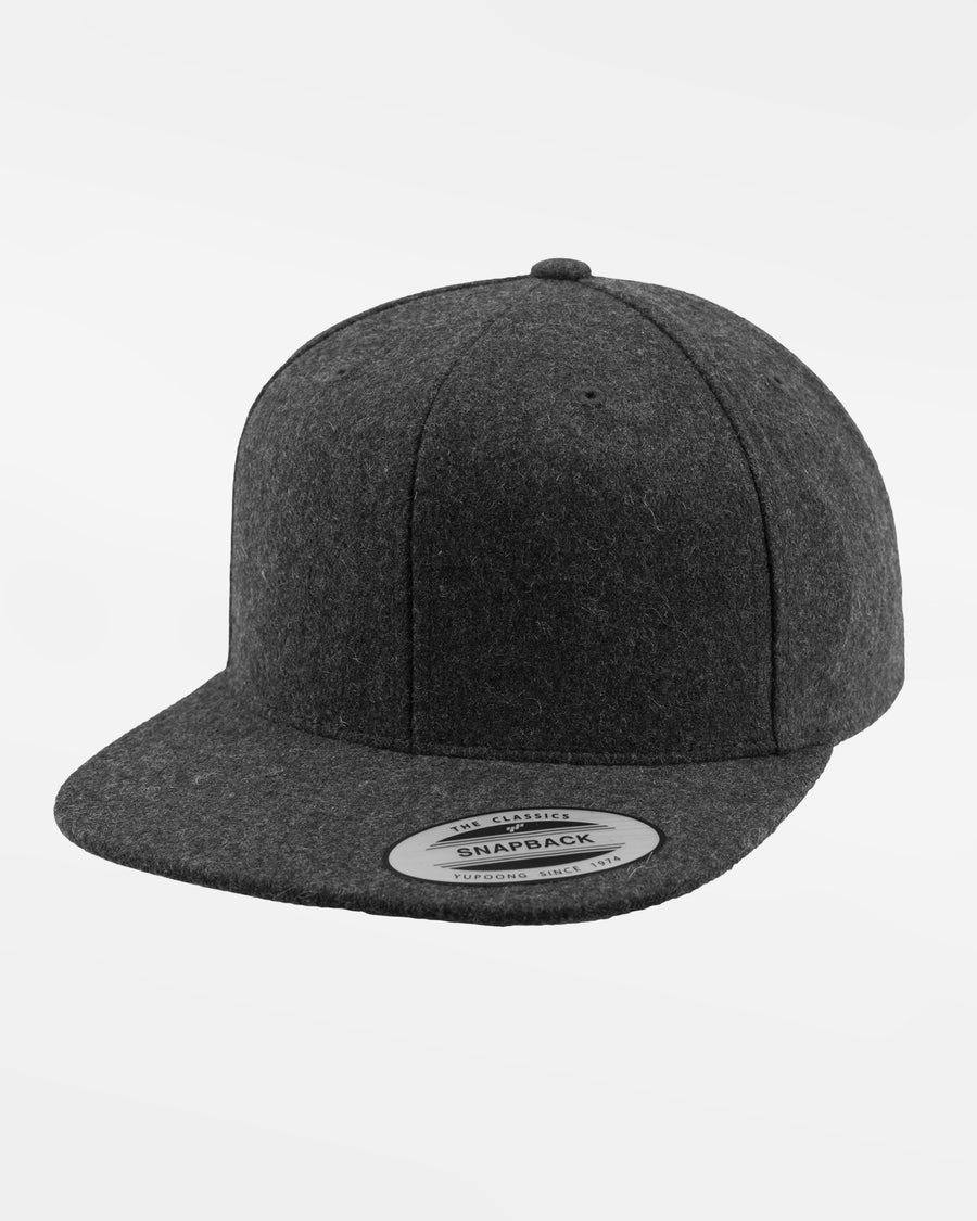 Yupoong Snapback Cap, Melton Wool, heather dunkelgrau-DIAMOND PRIDE